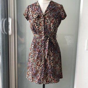 💎 DYNAMITE Leopard Print Shirt Dress - S